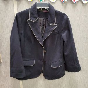 Navy wool jacket lined new